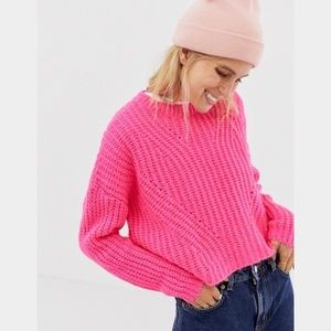 ASOS Stradivarius Hot Pink Sweater